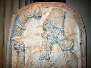 Бог Адад - изображение на фреске.