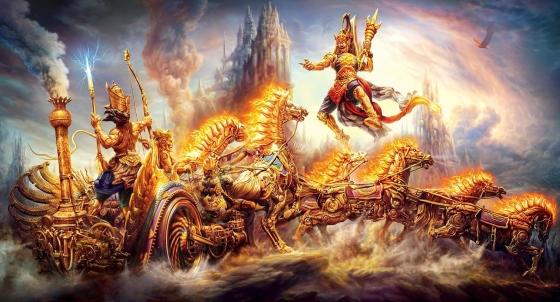 Индийский Эпос, его трактовка в изображении.