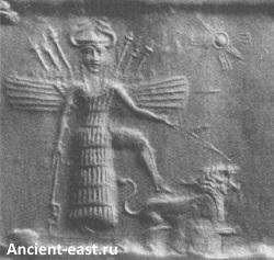 Богиня Инанна - владычица небес.