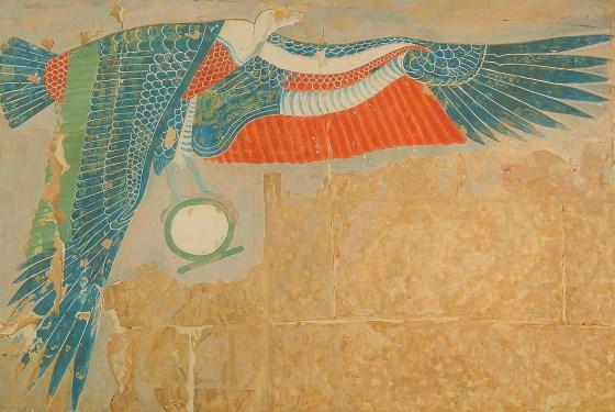 Изображение богини Нехбет в храме Хатшепсут. ancient-east.ru