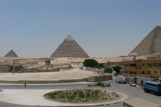 Египетские пирамиды, вид на плато.