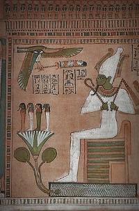 Бог Осирис - владыка царства мертвых.