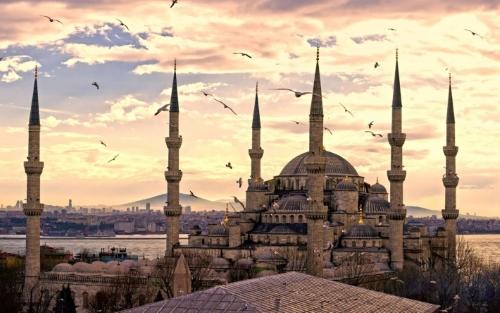 Голубая мечеть Стамбула.