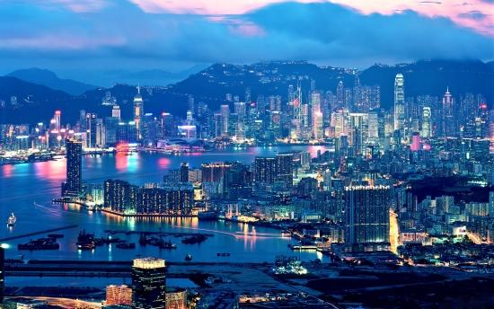 Поездка в Китай - красивый город панорама.
