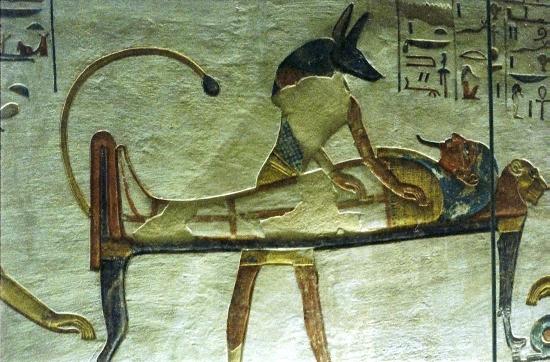 Бальзамирование - обряд в Египте.