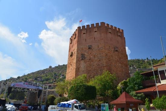 Башня Кызыл Куле - оборонительное сооружение.