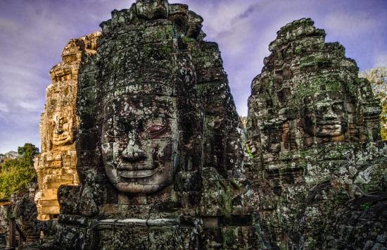 Ангкор Тхом - лица.