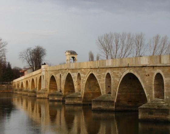 Эдирне - Meriç Bridge красивый мост.
