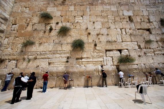 святые места Иерусалима, Стена Плача -  это символ веры и надежды многих поколений евреев.