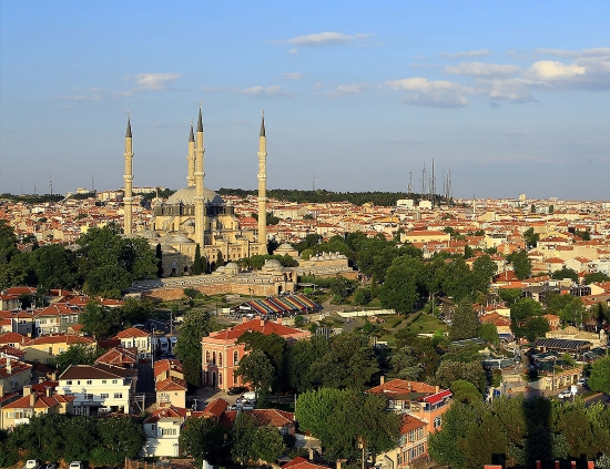 Эдирне - панорама города с большой историей.