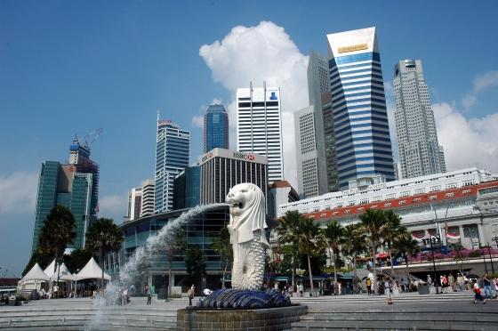 Город государство Сингапур.