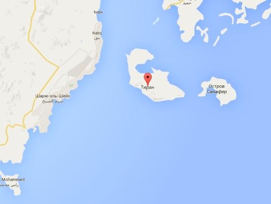 Острова Египта - Остров Тиран что напротив Шарм-эш-Шейха.