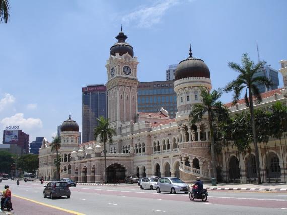 Здание султана Абдул-Самада что на площади Независимости.
