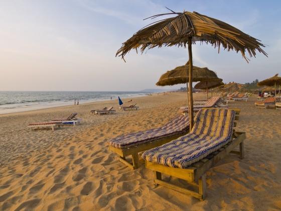 Красивые и спокойные пляжи Гоа.