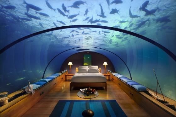 Места в мире для путешествий - знаменитый подводный отель на Мальдивах