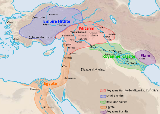 Митанни - древнее государство которое располагалось в Северной Месопотамии.