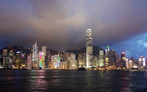 Гавань Виктория - находится в Гонконге.