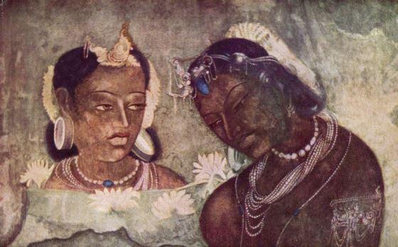 Росписи храма Аджанты - качественная работа мастеров древности.