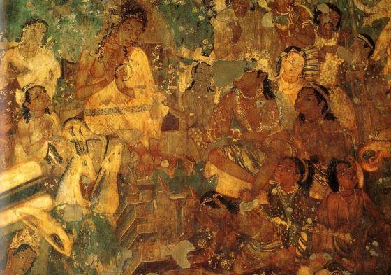 Фреска Аджанты в одном из храмов.