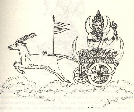 Сома, божество Луны в индийской мифологии.