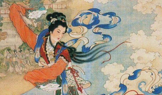 Чанъэ так изображали богиню луны.