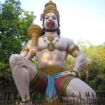 Бог Хануман — индийский бог силы, герой Рамаяны.