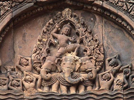 Бог Индра - как его изображали индуисты.