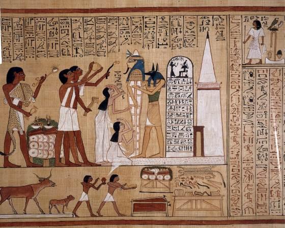 Бог Анубис бог чего - ритуал с мумией.