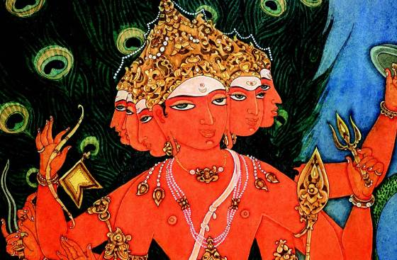 Бог Сканда - изображение божества.