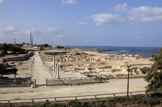 Панорама Кесарии старого города.