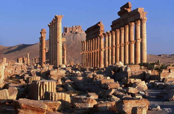 Пальмира фото развалин города.
