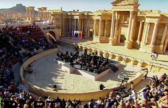 Концерт Валерия Гергиева в Пальмире, амфитеатр был подготовлен.