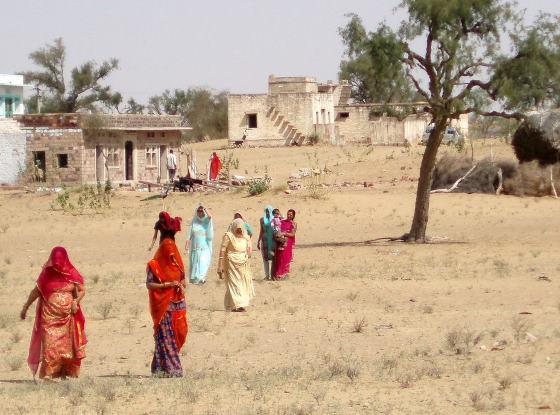 Пустыня Тар - на севере Индии.
