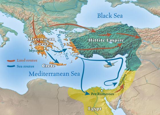 Хетты на карте Азии.