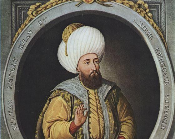 Мурад II - император османов.