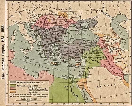 Османская империя и пик могущества.