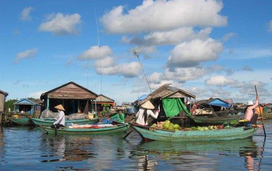 Вьетнамская деревня в Камбодже