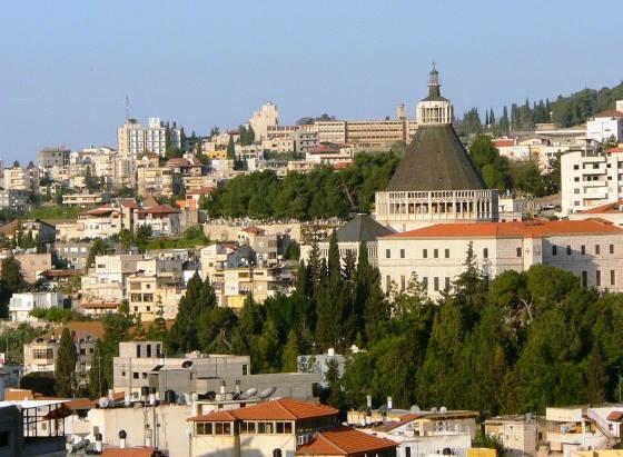 Город Назарет - панорамное фото.