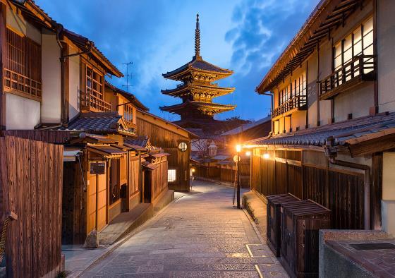 Улочки Япония Киото - старый город.