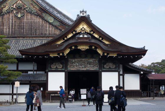 Замок Нидзё Япония Киото.