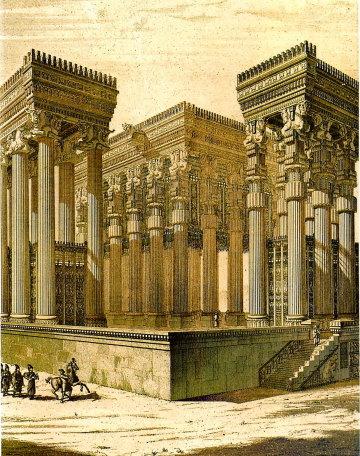 Ападана - дворец, на фото реконструкция. ancient-east.ru