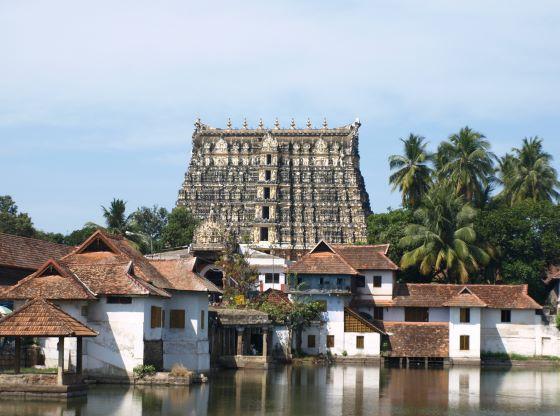 Храм Падманабхасвами расположенный в городе Тривандрам