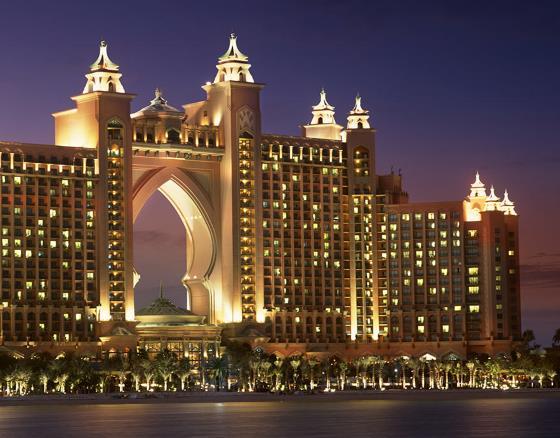 Отель Athlantis the Palm визитная карточка ОАЭ.