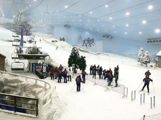 Горнолыжный комплекс Ski Dubai в Эмиратах.
