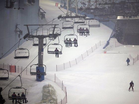 Горнолыжный курорт «Ski Dubai» отдых с семьей.