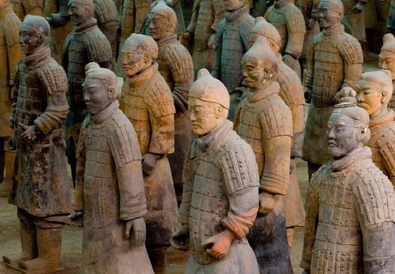 Терракотовая армия фото воинов.
