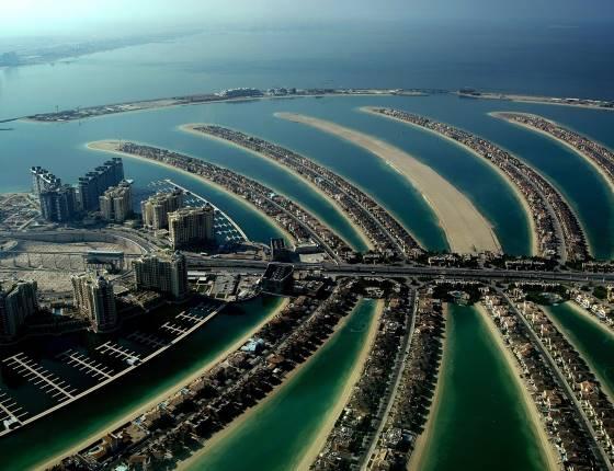 Пальмовый остров в ОАЭ.