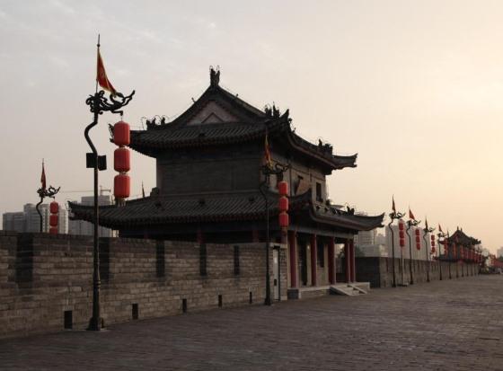 Городская стена города Сиань.