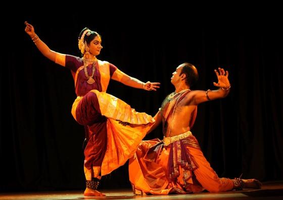 Индийский танец, небольшой фрагмент.