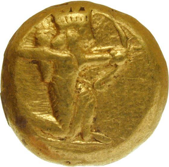 Золотая Драхма при Дарии Первом, династия Ахеменидов.